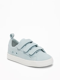 Sueded Secure-Strap Sneakers for Toddler Boys