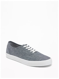 Chambray Lace-Up Sneakers for Men