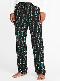 Printed Flannel Sleep Pants for Men