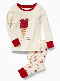 """Little Sweetheart"" Ice Cream Sleep Set for Toddler & Baby"