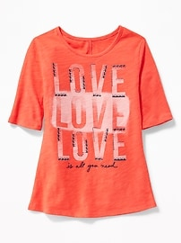 Graphic Slub-Knit Tee for Girls