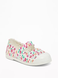 Printed Mary-Jane Slip-Ons for Toddler Girls