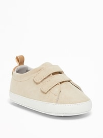 Sueded Double-Strap Shoes for Baby