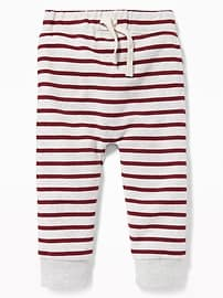 Striped U-Shape Fleece Joggers for Toddler Boys