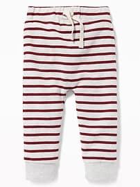 Pantalon d'entraînement en molleton rayé enU pour tout-petit garçon