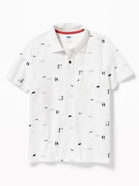 Printed Jersey Polo for Boys