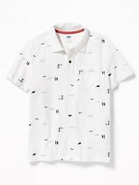 Polo imprimé en jersey pour garçon