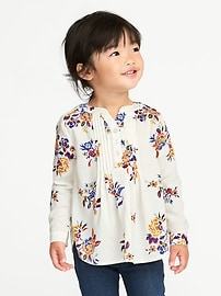 Pintuck Tunic for Toddler Girls