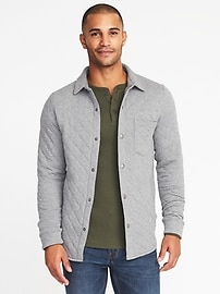 Quilted Jersey Shirt-Jacket for Men