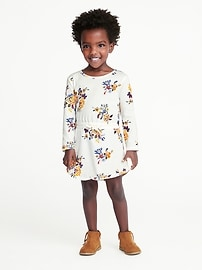 Floral-Print Jersey Dress for Toddler Girls