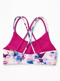 Double-Strap Cami Sports Bra for Girls
