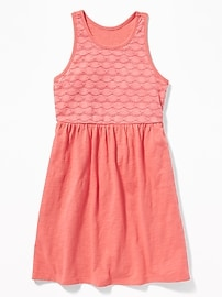 Fit & Flare Lace-Bodice Dress for Girls
