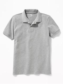 Polo d'uniforme en piqué Built-In Flex pour garçon
