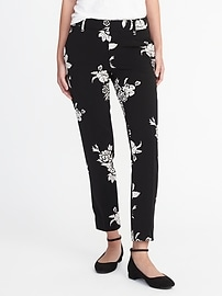 Mid-Rise Double-Weave Printed Harper Pants for Women