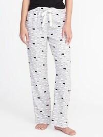 Pantalon de pyjama en flanelle à imprimé pour femme