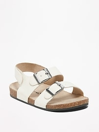 Sueded Double-Buckle Sandals for Baby