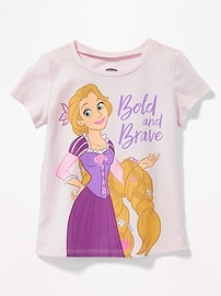 "Disney&#169 Tangled ""Bold and Brave"" Tee for Toddler Girls"