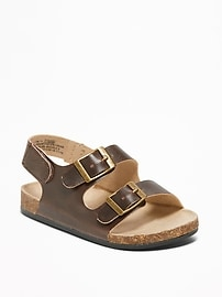 Faux-Leather Buckled-Strap Sandals for Baby