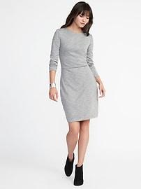 Robe fourreau en tricot double texturé pour femme