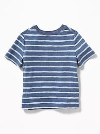 Striped Crew-Neck Tee for Toddler Boys