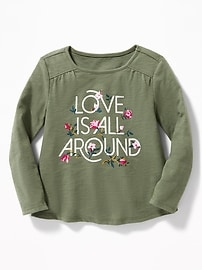 Graphic Slub-Knit Swing Top for Toddler Girls