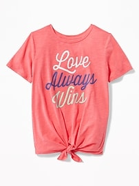 Graphic Tie-Front Top for Girls