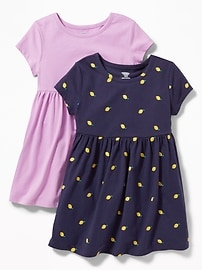 Jersey Fit & Flare Dress 2-Pack for Toddler Girls