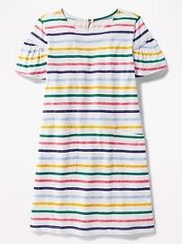 Patterned Pocket Tee Dress for Girls