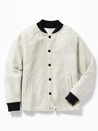 Snap-Front Fleece Bomber for Boys