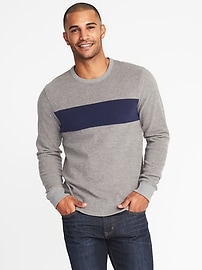 Color-Block Easy Crew Sweatshirt for Men