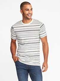 Soft-Washed Printed Tee for Men