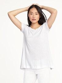 T-shirt luxueux évasé à col bateau pour femme