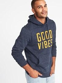 """""""Good Vibes"""" Fleece Pullover Hoodie for Men"""