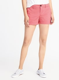 "Relaxed Mid-Rise Shorts for Women (3 1/2"")"