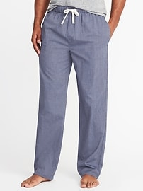Soft-Washed Poplin Sleep Pants for Men