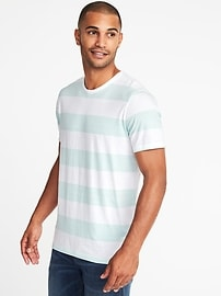 Soft-Washed Striped Tee for Men
