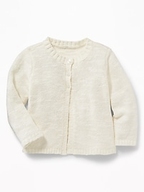 Split-Front Swing Cardi for Baby