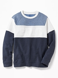 Graphic Color-Blocked Sweatshirt for Boys