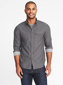 Slim-Fit Double-Weave Shirt for Men