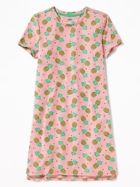Patterned Sleep Dress for Girls