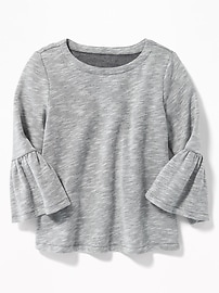 Relaxed Bell-Sleeve Fleece Top for Girls