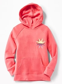 Graphic Soft-Washed Fleece Pullover Hoodie for Girls