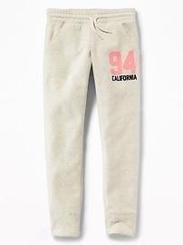 Pantalon d'entraînement en molleton avec logo pour fille