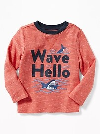 """Wave Hello"" Graphic Knit Tee for Toddler Boys"