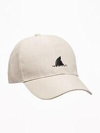 Graphic Linen-Blend Baseball Cap for Boys