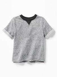 T-shirt en jersey bouclette pour tout-petit garçon