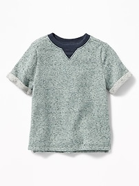 French-Terry Knit Tee for Toddler Boys