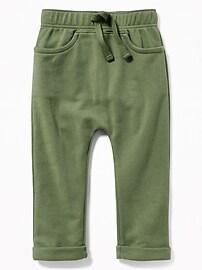 Pantalon d'entraînement uni à coulisse en forme de U pour tout-petit garçon