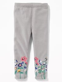 Graphic Cozy-Lined Fleece Leggings for Toddler Girls