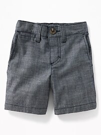 Chambray Shorts for Toddler Boys